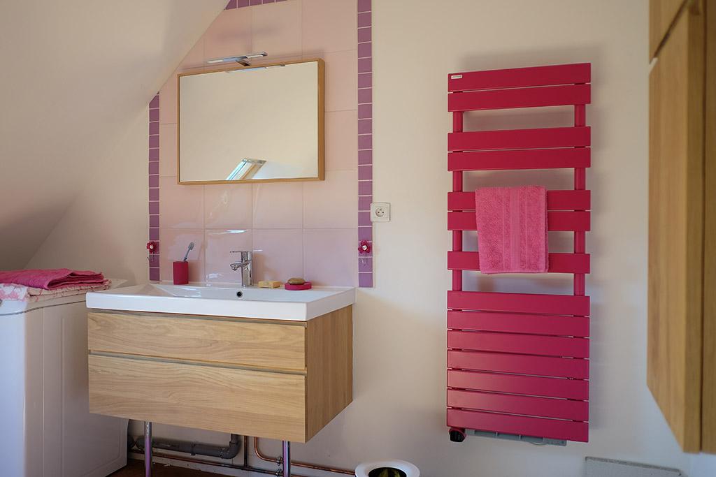 Ecogîte La Charrette Bleue – Salle de bain (Lave linge & Sèche serviette !)
